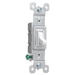 Pass & Seymour 15A 1-Pole Grounded Toggle Switch in White P660WG