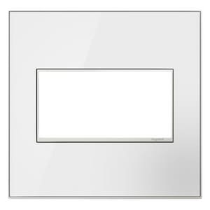 Pass & Seymour 2-Gang Wall Plate in Mirror White PAWM2GMW4