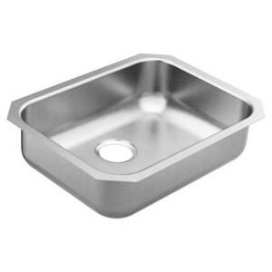 Moen 2000 Series 23-1/2 x 18-1/4 in. Single Bowl Undermount Kitchen Sink in Matte Stainless Steel MGS20193B