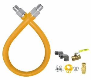 Easy Flex 1/2 x 24 in. MIP x FIP Gas Connector EFGC012YE101124