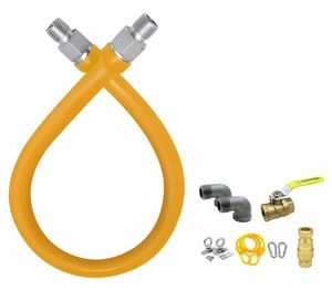 EasyFlex,EFGC-FS-034-K1-48, 48 in. Commercial Food Service Gas Connection Kit, M78817