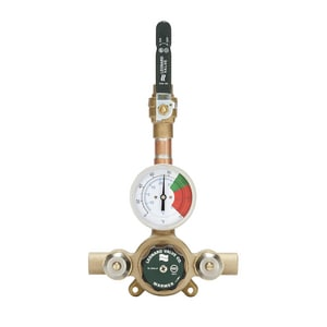 Leonard Valve Eco-Mix™ 1 x 1-1/4 in. Inlet x Outlet Thermostat Mixing Valve LXL82LFBDT
