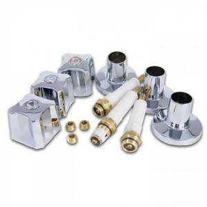 Kissler 3-Handle Kohler Tub and Shower Rebuild Kit in Polished Chrome KRBK2505
