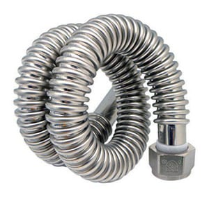 Easy Flex 1-1/2 x 24 in. Braided Stainless Water Heater Flexible Water Connector EEFWC112SS141424