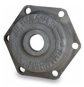 D and M Coatings 24 x 2 in. Mechanical Joint Ductile Iron C153 Short Body Tapped Cap with Permox CTF™ Lined DDTK24CTF