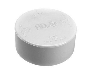 GPK 4 in. Hub and Solvent Weld SDR 35 Straight PVC Sewer Cap G21100