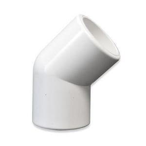 6 in. IPS 100# Fabricated Straight SDR 17 HDPE 45 Degree Elbow 3-Piece PEI17F34