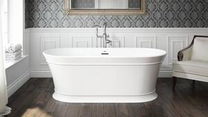 JACUZZI® Serafina 67 x 31-1/2 in. Soaker Freestanding Bathtub with Center Drain in White JSNF6731BCXXXXG