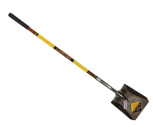 Seymour Midwest Square Point Shovel with 48 in. Fiberglass Cushion Grip Handle S49562