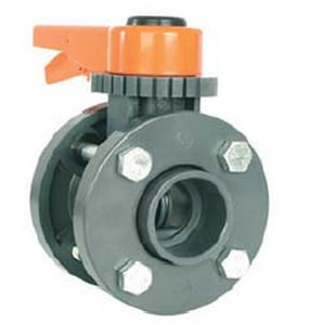 14 in. IPS Straight DR 11 Plastic Beveled Butterfly Valve Flange Adapter PEI11BVFLA14
