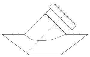 GPK 12 x 12 x 8 in. Gasket Reducing SDR 35 PVC Sewer Saddle Wye G1010128