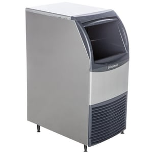 Scotsman Industries 15 in. 80 lb. Undercounter Cuber Ice Maker in Stainless Steel SCU0715MA1A