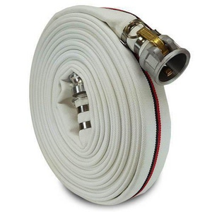 Hose Power 2 in. x 50 ft. Male Camlock x Female Camlock Straight Aluminum and Polyester Single Jacket Mill Hose in White HWA35200CE050AL
