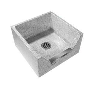 Stern-Williams HILOW® 24 x 24 in. Mop Basin in Stainless Steel SHL1800