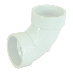GPK 10 in. Gasket Heavy Wall Sewer Straight SDR 26 PVC 90 Degree Elbow G9230010