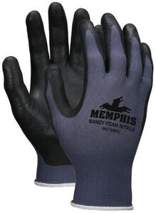 Memphis Glove M Size Nylon Knit Black Foam Gloves M9673SF
