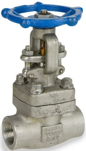 Swi Valve 1 in. Forged Steel Socket Weld x Threaded Gate Valve SAAF11ABSA1A