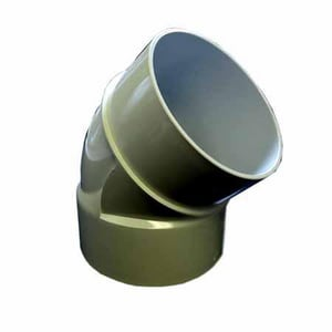 GPK 4 in. Hub Solvent Weld Heavy Wall Straight SDR 26 PVC 22-1/2 Degree Elbow GH9170004