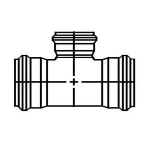 GPK 10 x 10 x 4 in. Gasket Reducing SDR 35 PVC Tee G1030104