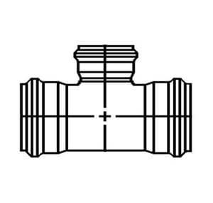 GPK 10 x 10 x 6 in. Gasket Reducing SDR 35 PVC Tee G1030106