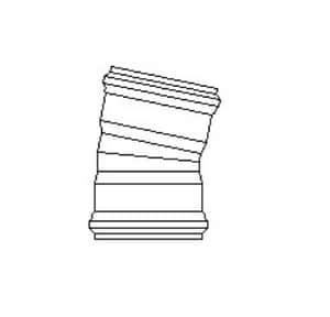 GPK 6 in. Spigot x Gasket IPS 200# Straight and DWV Schedule 40 PVC 22-1/2 Degree Elbow GG3180006