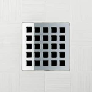 Ebbe America Quadra 4 in. Unique Mission Grate in Polished Stainless EE4803PS
