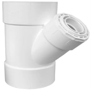 GPK 4 in. Hub Straight SDR 35 PVC Solvent Weld Sewer Wye G2070044
