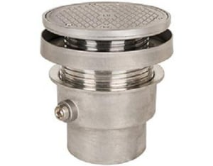 Sioux Chief FinishLine™ 834 Series 4 in. No Hub Cleanout Assembly with 6-1/2 in. Round Stainless Steel Cover S8344SSRS