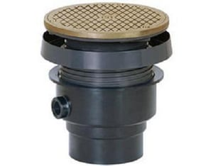 Sioux Chief FinishLine™ 834 Series 3 x 4 in. Hub ABS Cleanout Assembly with Square Nickel Bronze Ring and Strainer S8343ANQ