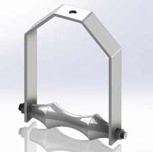 Empire Industries 5 in. Adjustable Roller Hanger in Black E272B0500
