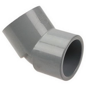 Chemtrol Corzan® 1/4 in. Socket 300# Straight Schedule 80 CPVC 45 Degree Elbow C5106B