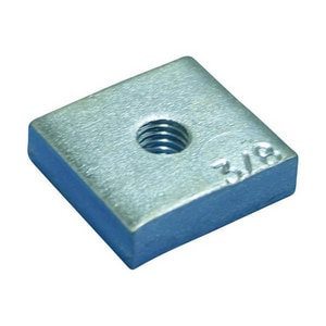 nVent CADDY Caddy® 3/8 in. Electrogalvanized Plated Steel Insert Nut for 355 Concrete Insert E355N0037EG