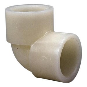 Chemtrol 1 in. Socket Straight Schedule 80 Natural PVDF 90 Degree Elbow in Natural C6607