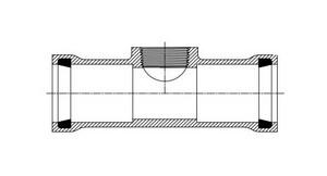 Harrington Corporation 2-1/2 x 2-1/2 x 1 in. Gasket x FIPT IPS Reducing SDR 21 IPT Tap On Pipe PVC Tee PPRGTTLG