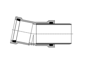 Harrington Corporation 8 x 8 x 4 in. Gasket Reducing SDR 26 PVC Wye for C900 Pipe H18010804