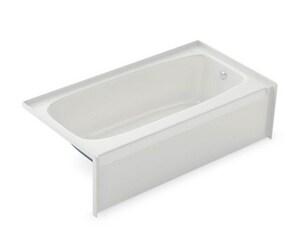 Aker Plastics 54 x 29 in. Fiberglass Bath with Left Hand Drain in White A141077000002001