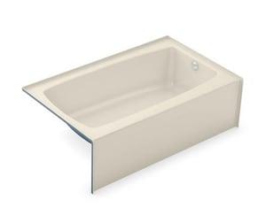 Aker Plastics 60 x 36 in. Soaker Alcove Bathtub Right Drain in Bone A141353000004502