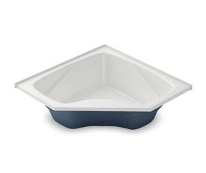 Aker Plastics 59 x 59 in. Fiberglass Drop-In Corner Bathtub in White A141097058070