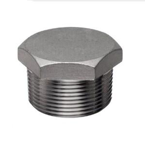 1/2 in. Threaded 6000# Straight Grade LF2 Forged Steel HEX Plug FS6LF2THPD