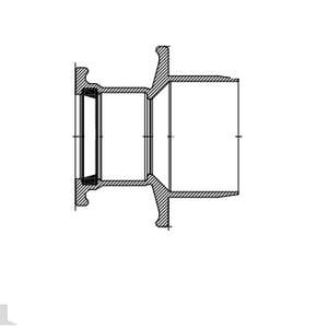Harrington Corporation 4 x 2 in. IPS x Push-On Ductile Iron SEB Reducer H80434F