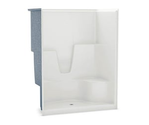 Aker Plastics 60 x 36 in. Gelcoat Shower with Left Hand Seat and Optional Roofcap in White A141036000002501