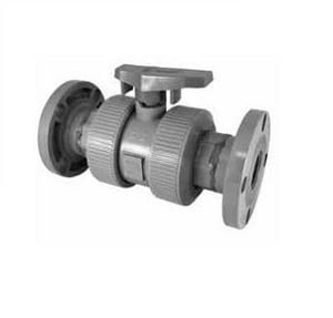 Chemtrol Model D 2 in. CPVC Flanged 250# Ball Valve CF51TBEK