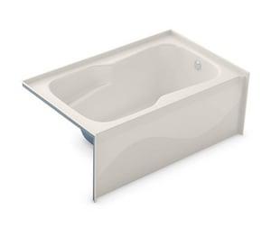 Aker Plastics 60 x 36-1/2 in. Soaker Alcove Bathtub Right Drain in Biscuit A141080000007002