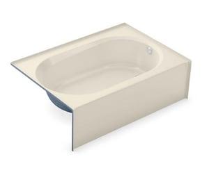 Aker Plastics 60 x 41 in. Soaker Alcove Bathtub Right Drain in Bone A141355000004502