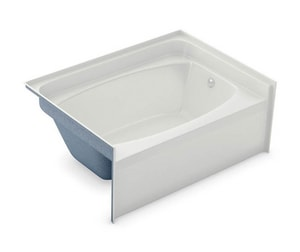 Aker Plastics 60 x 42 in. Gelcoat Rectangle Bathtub with Right Drain in White A141082000002002