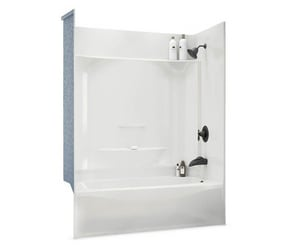 Aker Plastics 60 x 32 in. Tub & Shower with Left Drain in White A142013000002594
