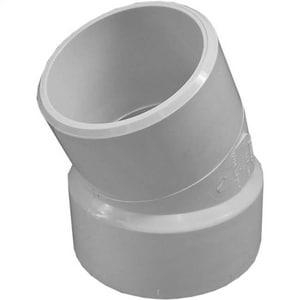 Harrington Corporation 8 in. Gasket x Spigot Straight SDR 35 PVC 22-1/2 Degree Elbow H352508