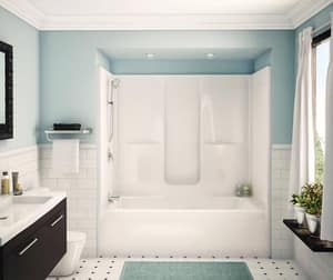 Aker Plastics 72 x 37-1/2 in. Tub & Shower Unit with Left Drain in White A141006000002001