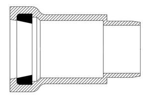 Harco-The Harrington Corporation 1-1/2 in. Spigot x Gasket IPS Straight SDR 21 PVC Adapter PPRGSAJ