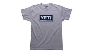 Yeti Coolers L Size Billboard Short Sleeve T-Shirt in Grey YYTSBBGL